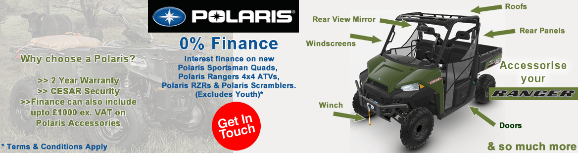 Polaris Accessories & 0% Finance!